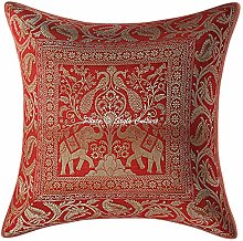 Stylo Culture Indian Elephant Sofa Throw Pillow