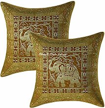 Stylo Culture Indian Elephant Throw Pillows For