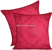 Stylo Culture Indian Large Mirrored Embroidered