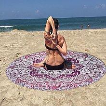 Stylo Culture Mandala Round Purple Printed Yoga