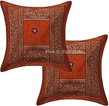 Stylo Culture Polydupion Silk Ethnic Sofa Cushion