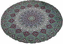 Stylo Culture Round Mandala Blanket Throw Green