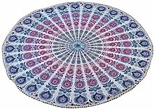 Stylo Culture Round Mandala Throw Pink Printed