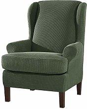 SU SUBRTEX Strench Wingback Chair Sofa Cover 2