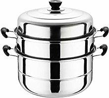 su-xuri 28cm Steamer Pot 3 Tier Food Cooking