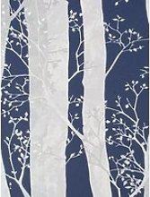 Sublime Dappled Trees Navy Wallpaper