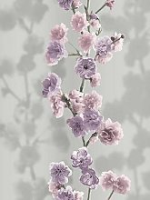 Sublime Icy Blossom Lilac Wallpaper