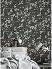 Sublime Japan Black / Green Wallpaper