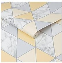 Sublime Marble Geo Yellow Wallpaper