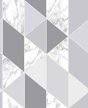 Sublime Marble Steel Geometric Wallpaper