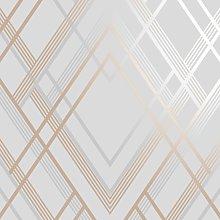 Sublime Ritz Grey & Rose Gold Wallpaper