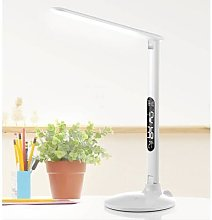 Success LED desk lamp with clock, white