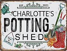 Succulent Garden Potting Shed Horizontal tin sign,