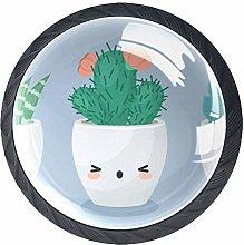 Succulent Plant Cactus Crystal Drawer Handles