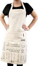 SUCK UK Kitchen Apron with Cooking Tips - 1 item
