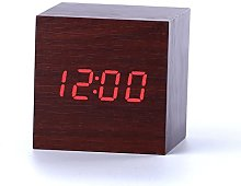 Sucun Cube Sound Control Wooden LED Digital Alarm
