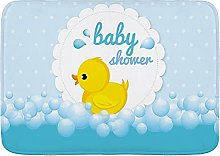 SUDISSKM Bath Mat,Cute Little Yellow Duck Theme