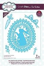 Sue Wilson Fillables Collection Easter Bunny Egg
