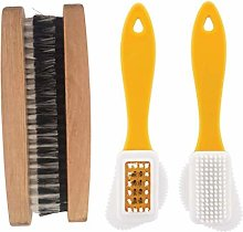 Suede Brush & 2 pcs Boot brush Traditional Shoe