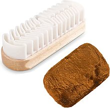 Suede Shoe Brush, Suede Nubuck Brush Soft Crepe