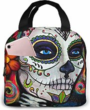Sugar Skull Candy Lunch Bag for Women Girls Kids