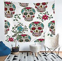 Sugar Skull Tapestries Wall Hanging Boys Teens