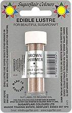 Sugarflair SHIMMER BROWN Edible Lustre Dust Powder
