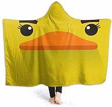 SUGARHE Hoodie Blanket Warm Flannel,Cartoon Yellow