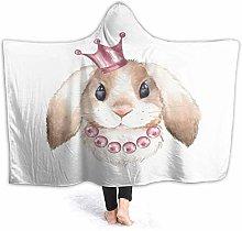 SUGARHE Hoodie Blanket Warm Flannel,Pink Girl