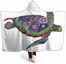 SUGARHE Hoodie Blanket Warm Flannel,Psychedelic