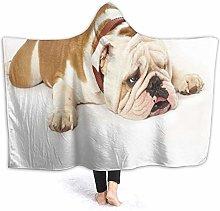 SUGARHE Hoodie Blanket Warm Flannel,Pug Puppy