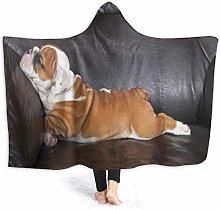 SUGARHE Hoodie Blanket Warm Flannel,Puppy Resting