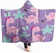 SUGARHE Hoodie Blanket Warm Flannel,Purple