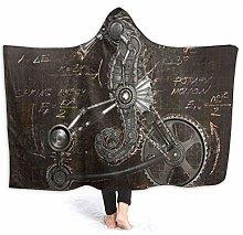 SUGARHE Hoodie Blanket Warm Flannel,Steampunk