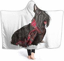 SUGARHE Hoodie Blanket Warm Flannel,Tartan