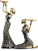 SUHETI 2 pieces Resin Girl Sculpture with