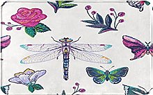 SUHETI carpet bath mat,rug,Embroidery Patch With