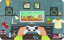 SUHETI carpet bath mat,rug,Gaming Guy In His Flat