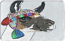 SUHETI carpet bath mat,rug,Llama Alpaca With An