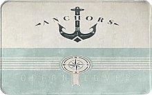 SUHETI carpet bath mat,rug,Nautical Vintage Marine