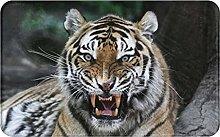 SUHETI carpet bath mat,rug,Tiger Face With Roaring