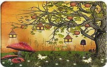 SUHETI carpet bath mat,rug,Tree With Apples And