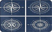 SUHETI carpet bath mat,rug,White Compasses With
