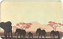 SUHETI carpet bath mat,rug,Wild Herd Of Elephants