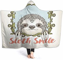 SUHETI Hoodie Blanket Warm Flannel,Sloth Exotic