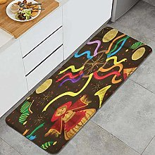 SUHETI Kitchen Rug,Celebrations for The Carnival