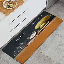 SUHETI Kitchen Rug,Chalkboard School Supplies with