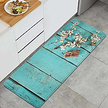 SUHETI Kitchen Rug,Cherry Flowers with Color
