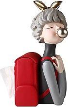 SUHETI Resin Backpack Girl Tissue Box Holder Desk