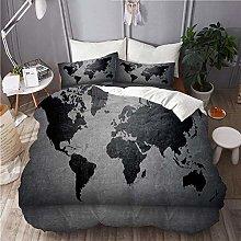 SUHOM bedding-Duvet Cover Set,Black-colored world